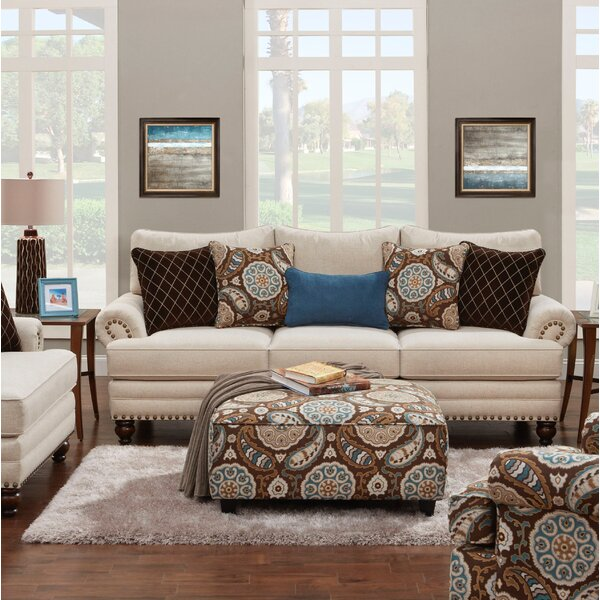 Rosborough White Linen Sofa by Red Barrel Studio
