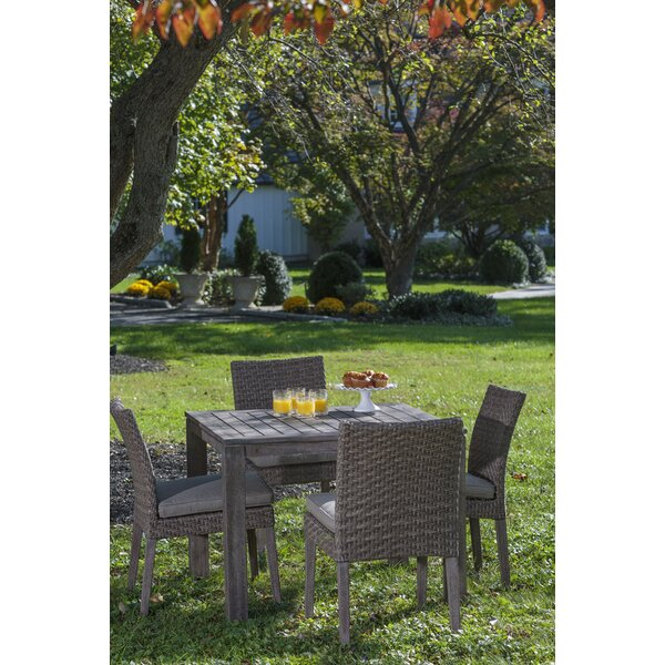 Nishant 5 Piece Sunbrella Dining Set with Cushions by Gracie Oaks