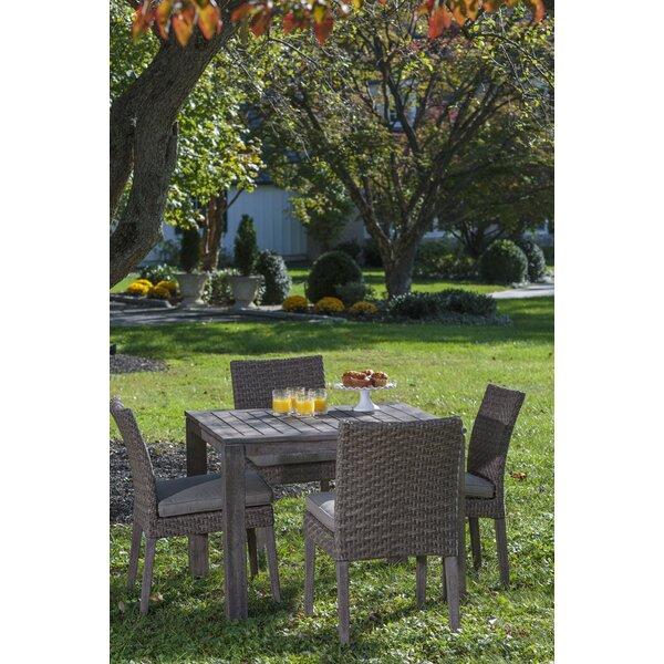 Nishant 5 Piece Sunbrella Dining Set with Cushions by Gracie Oaks