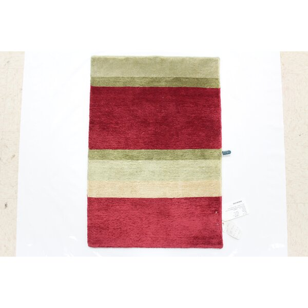 One-of-a-Kind Coleshill Hand-Knotted Wool Red/Beige Area Rug by Isabelline