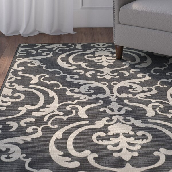 Herefordshire Black/Sand Indoor/Outdoor Area Rug by Winston Porter