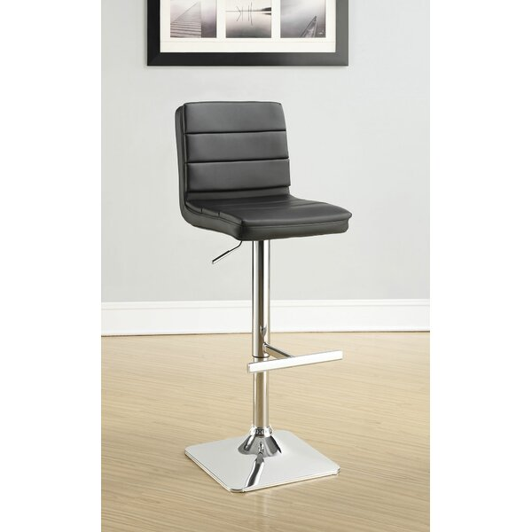 Emig Adjustable Height Bar Stool (Set of 2) by Orren Ellis