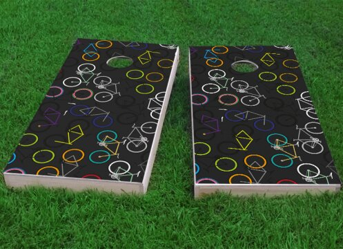Bicycle Art Cornhole Game (Set of 2) by Custom Cornhole Boards