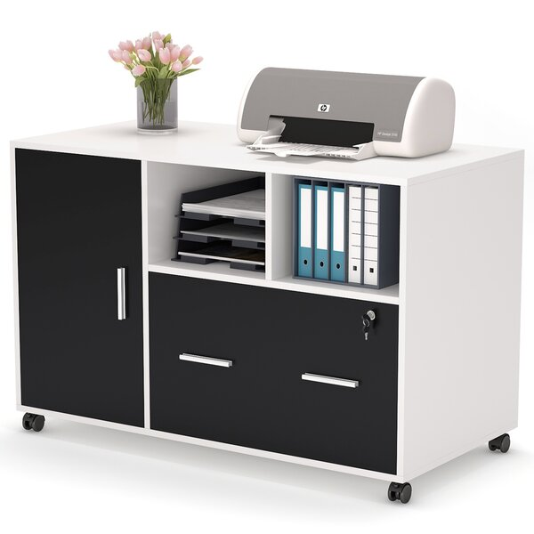 2-Drawer Mobile Lateral Filing Cabinet