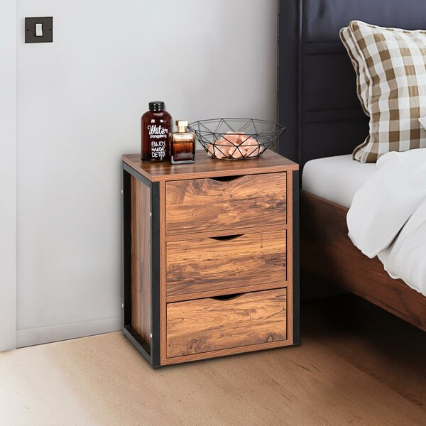 Sotomayor 3 Drawer Nightstand by 17 Stories 17 Stories
