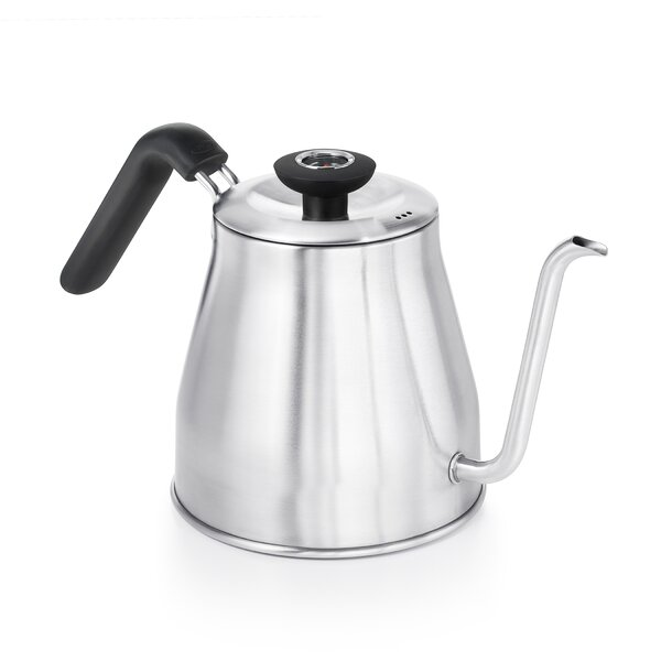 1.05 Qt. Pour Over Stainless Steel Electric Tea Kettle with Thermometer by OXO