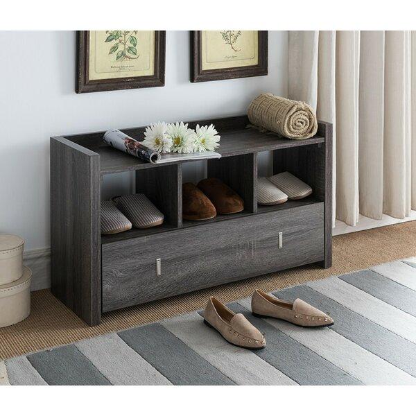 McManus Shoe Wood Storage Bench by Ebern Designs