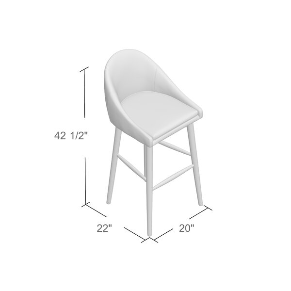 Prism 29 Swivel Bar Stool (Set of 2) by Mercury Row