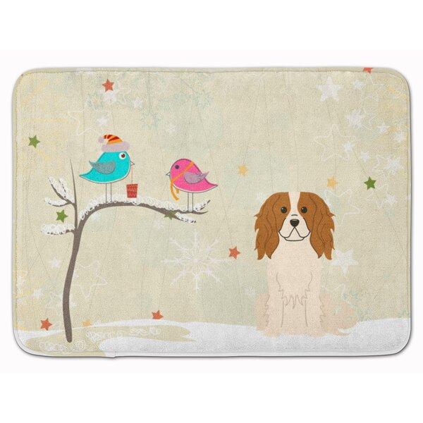 Christmas Presents Cavalier Spaniel Memory Foam Bath Rug by The Holiday Aisle