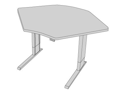 42'' W Infinity Height Adjustable Training Table by Populas Furniture