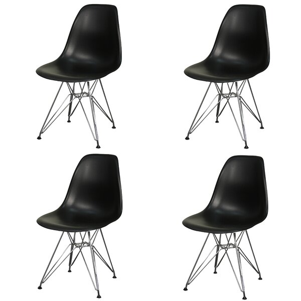 Essence Side Chair with Metal Wire Legs (Set of 4) by Brayden Studio