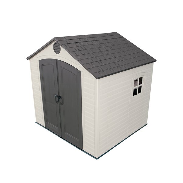 7 ft. 8 in. W x 7 ft. 2 in. D Plastic Storage Shed by Lifetime