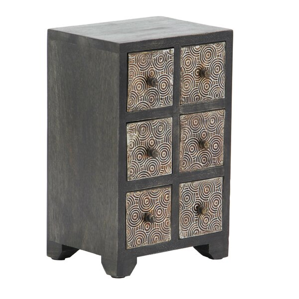 Cima Rustic Rectangular 6-Drawer Free Standing Jewelry Armoire by Bloomsbury Market