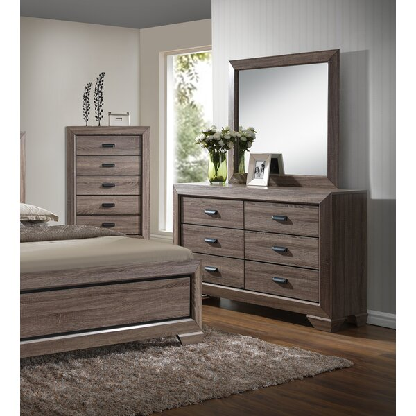 Lehn 6 Drawer Double Dresser with Mirror by Union Rustic