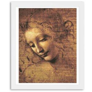'Female Head' by Leonardo Da Vinci Framed Painting Print by Astoria Grand