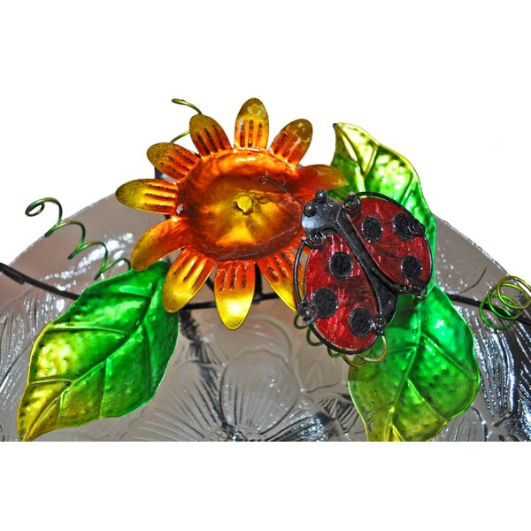 Glass/Metal Lady Bug Tabletop Fountain by Continental Art Center