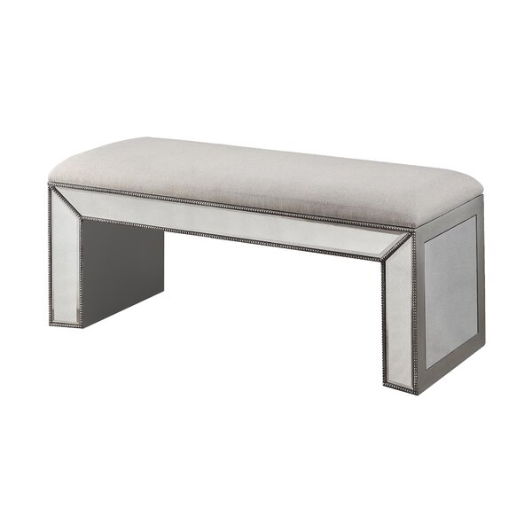 Claremore Vanity Upholstered Bench by Rosdorf Park