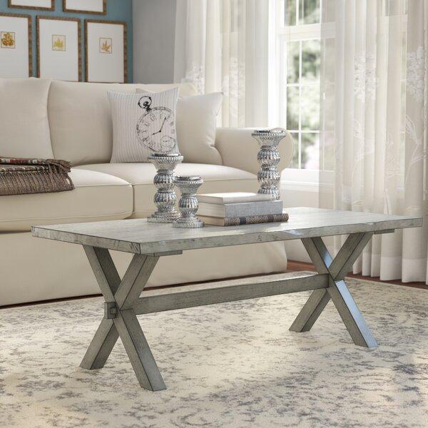 Lathrop Solid Wood Cross Legs Coffee Table By Gracie Oaks