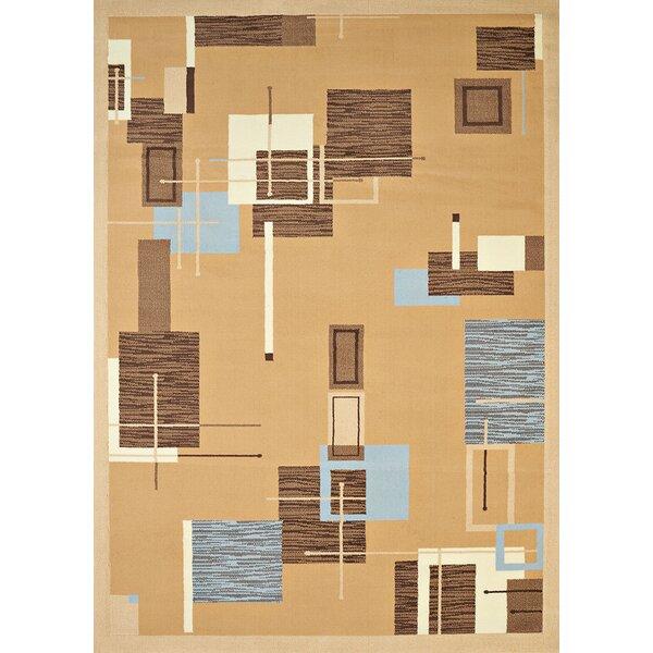 Eloise Beige/Blue Area Rug by Ebern Designs