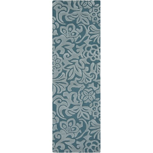 Modern Classics Hand-Tufted Teal Blue/Stormy Sea Area Rug by Candice Olson Rugs