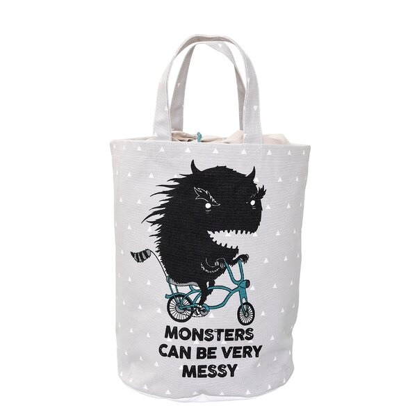 Crispin Monster Laundry Bag by Harriet Bee