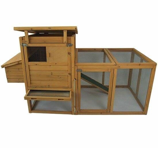 Auggie 75 Deluxe Wooden Chicken Coop with Outdoor