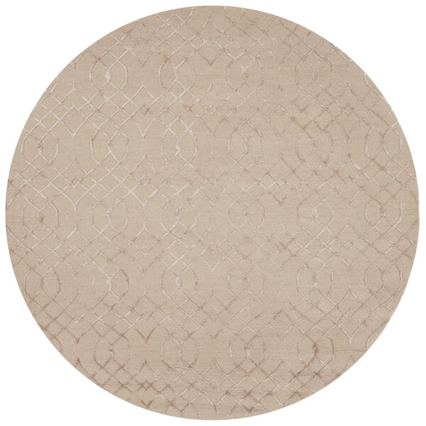 Kirkbride Taupe Area Rug by Charlton Home