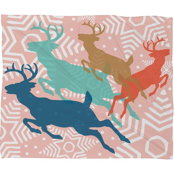 Spence Dashing Through The Snow Serene Fleece Polyester Throw Blanket by Ivy Bronx