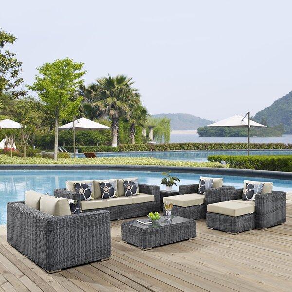 Keiran 9 Piece Sunbrella Sofa Set with Cushions by Brayden Studio