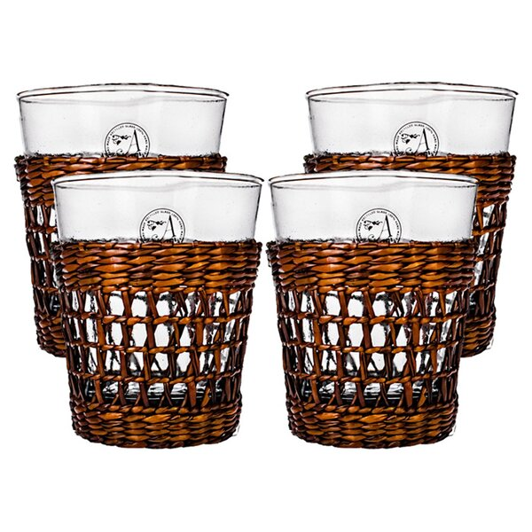 Bali Double Old Fashioned Glass (Set of 4) by Global Amici
