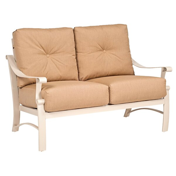 Bungalow Love Seat with Cushions by Woodard
