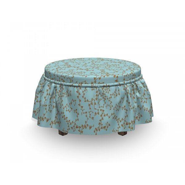 Swirl Branches Ottoman Slipcover (Set Of 2) By East Urban Home