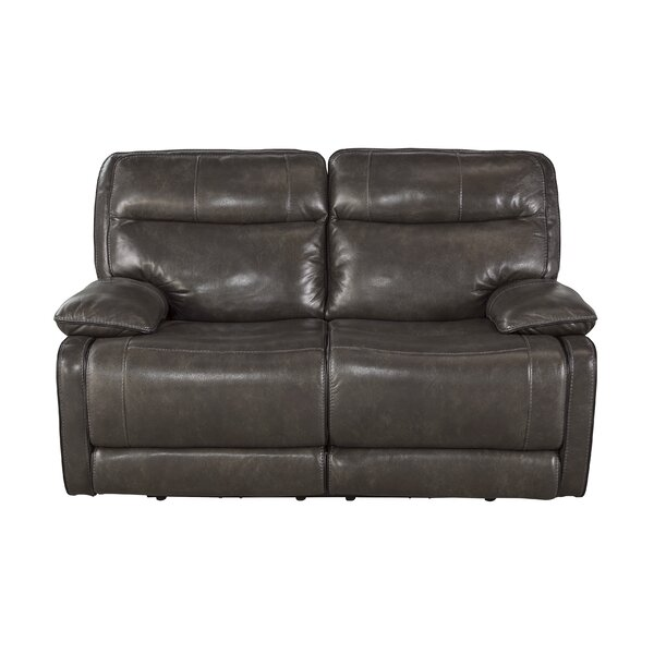 Gigi Leather Reclining Loveseat by Trent Austin Design