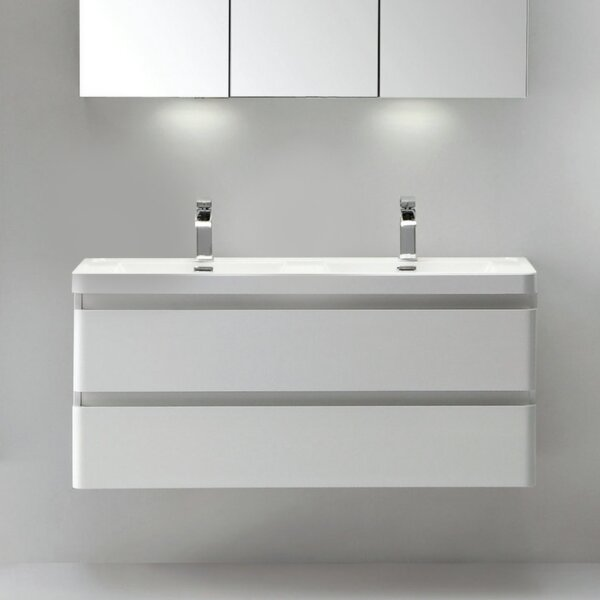 Blaire Modern 48 Double Bathroom Vanity Set by Orren Ellis