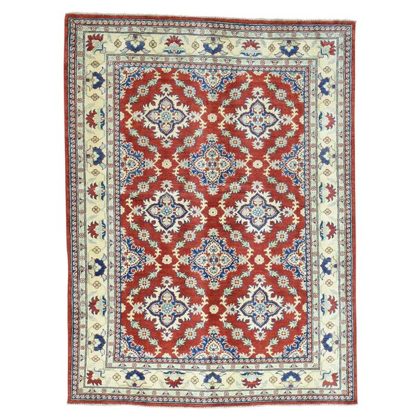 One-of-a-Kind Tillett Hand-Knotted Red Area Rug by Millwood Pines