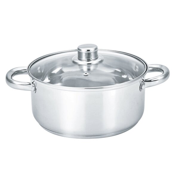 Round Dutch Oven with Glass Lid by MBR Industries