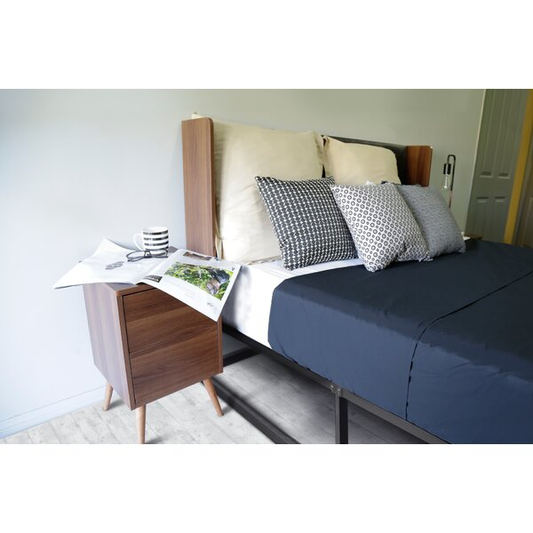 Dandre Curve Queen Upholstered Bed by George Oliver