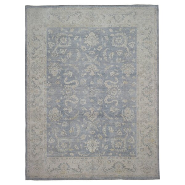 One-of-a-Kind Ardith Traditional Oriental Hand-Woven Wool Blue Area Rug by Darby Home Co