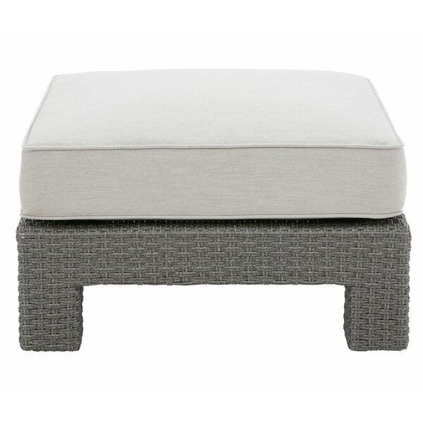 Elamin Outdoor Ottoman with Cushion by Highland Dunes