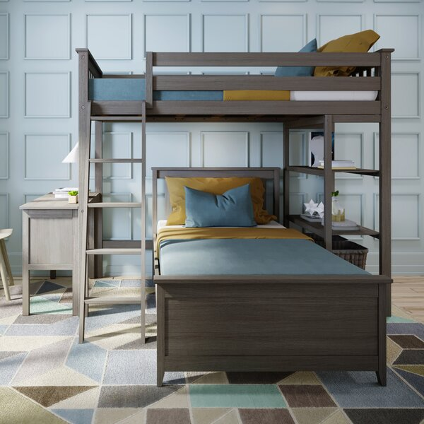 Friedman Bunk Bed with Bookcase and Desk by Trule Teen