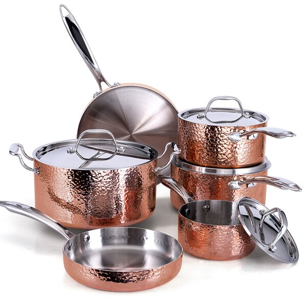 Seville 10 Piece Stainless Steel Cookware Set by Fleischer and Wolf
