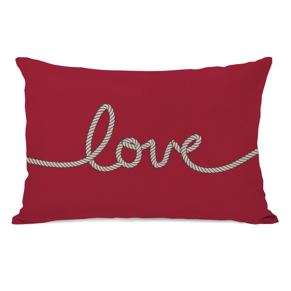 Love Rope Lumbar Pillow by One Bella Casa