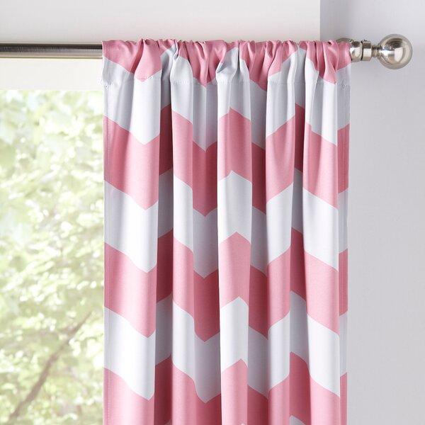 Chevron Room Darkening Thermal Rod Pocket Curtain Panels Set Of 2 By Birch Lane Kids.