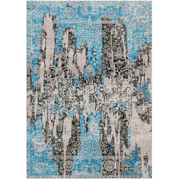 Aliza Handloom Blue/Brown Area Rug by Bungalow Rose
