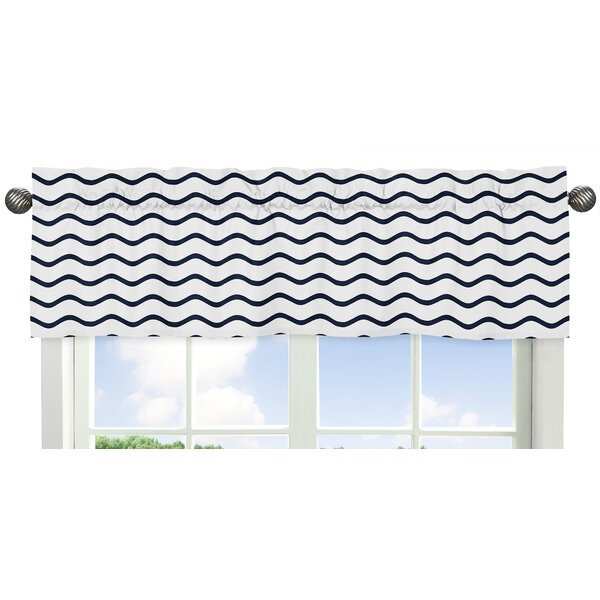Whale Wave 54 Window Valance by Sweet Jojo Designs