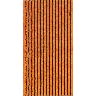 Compare prices Seidman Modern Oriental Traditional Hand-Tufted Wool Orange/Black Area Rug ByBloomsbury Market