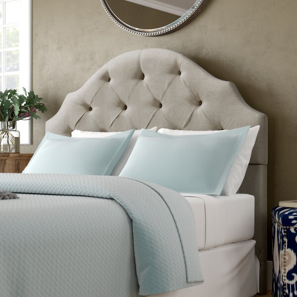 Joyce Upholstered Panel Headboard by Three Posts