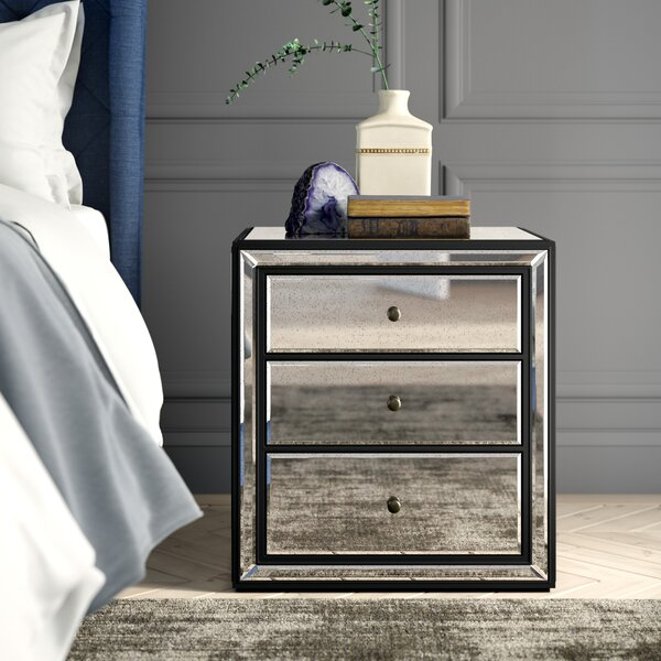 Finke Boho 3 Drawer Nightstand by Greyleigh