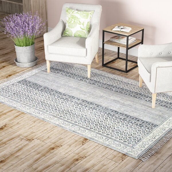 Dunwoody Handmade Gray Area Rug by Laurel Foundry Modern Farmhouse