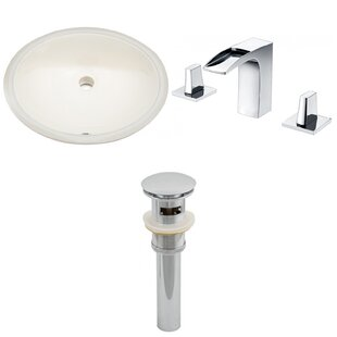 Read Reviews CUPC Ceramic Oval Undermount Bathroom Sink with Faucet and Overflow ByRoyal Purple Bath Kitchen
